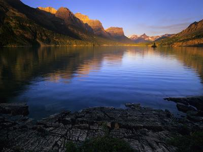 Early Morning at St Mary Lake in Glacier National Park, Montana, USA