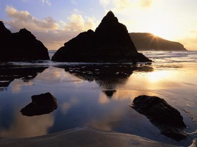 Sunset on the Oregon Coast at Harris Beach State Park, Oregon, USA