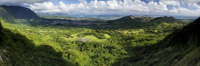 View from Nuuanu Pali State Wayside Viewpoint, Oahu, Hawaii, USA