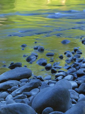 Reflections in the Elwha River, Olympic National Park, Washington, USA