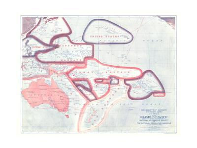 1921 Sovereignty and Mandate Boundary Lines of the Islands of the Pacific