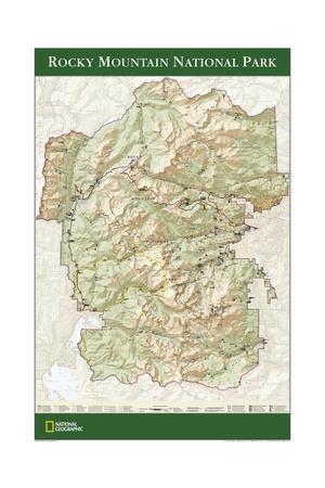 2005 Rocky Mountain National Park Map