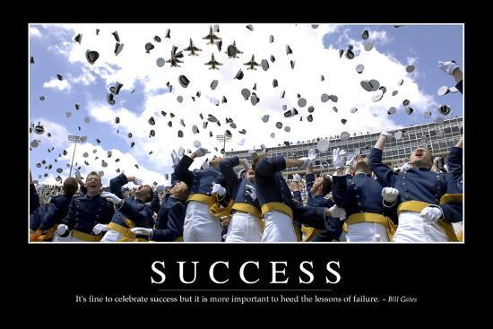 Success Inspirational Quote And Motivational Poster