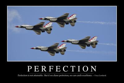 Perfection: Inspirational Quote and Motivational Poster