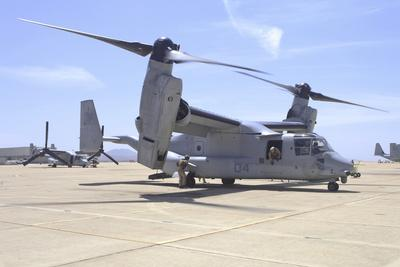 An MV-22 Osprey Taxiing at Marine Corps Air Station Miramar