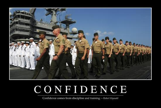 Confidence: Inspirational Quote and Motivational Poster