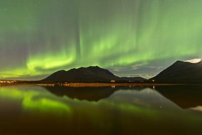 Aurora Borealis over Mountain, Carcross, Yukon, Canada