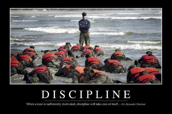 Discipline Inspirational Quote And Motivational Poster