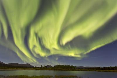 Aurora Borealis over Fish Lake, Yukon, Canada