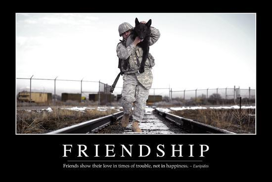 Friendship Inspirational Quote And Motivational Poster