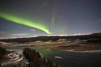 Aurora Borealis over Yukon River, Yukon, Canda
