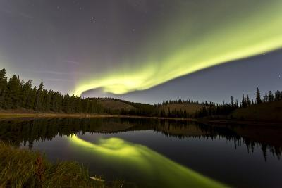 Aurora Borealis over Hidden Lake, Yukon, Canada
