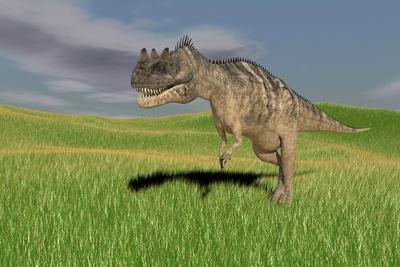 Ceratosaurus Hunting in Prehistoric Grasslands