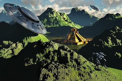 The Legendary South American Golden City of El Dorado in the Summer