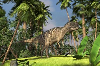 Ceratosaurus Hunting in Forest