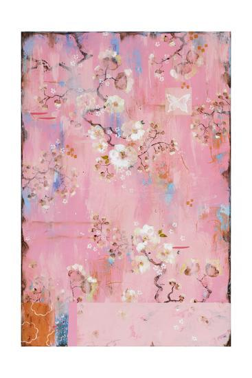 French Wallpaper Pink Premium Giclee Print By Kathe Fraga At