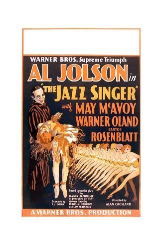 reproduction. Al Jolson The Jazz singer Old Movie poster wall art