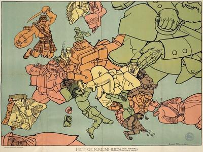 Satirical Map - The Insane Asylum