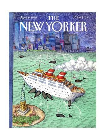 The New Yorker Cover - April 9, 1990