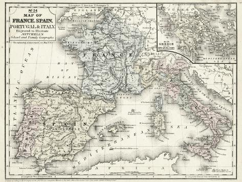 photo regarding Printable Maps of Spain called Mitcs Map of France, Spain and Italy
