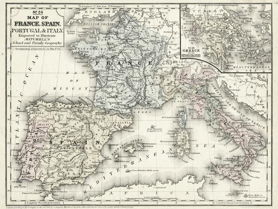 Mitchell S Map Of France Spain And Italy Print At Allposters Com