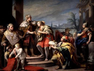 Joseph in the Pharaohs Palace, Ca. 1749