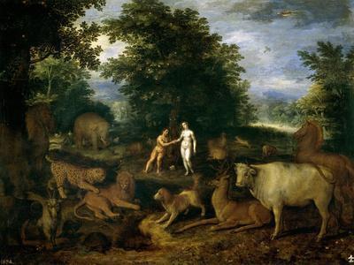 Adán Y Eva En El Paraíso, Ca. 1618