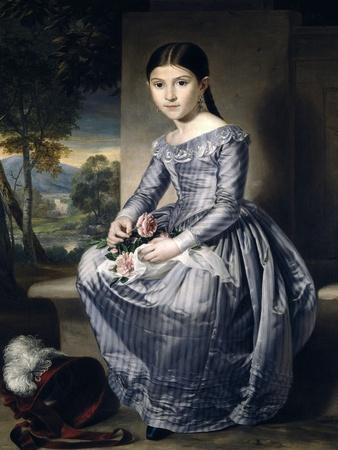 Portrait of a Seated Girl with a Landscape in the Background, 1842