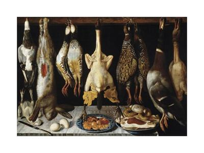Still Life of Birds and Hares, 1643