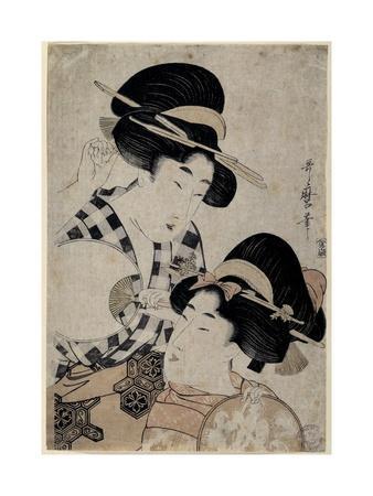 Dos Jóvenes Mujeres Con Abanico, 1790-1800