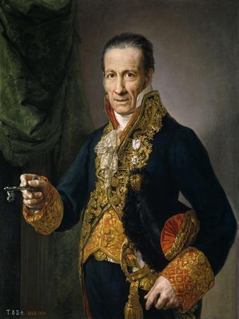 Luis Veldrof, Aposentador Mayor Y Conserje Del Real Palacio, Ca. 1820