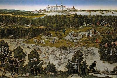 Hunt in Honour of Ferdinand I at the Castle of Torgau, 1545