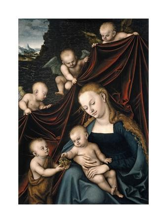 The Virgin and Child, with Saint John and Angels, 1536