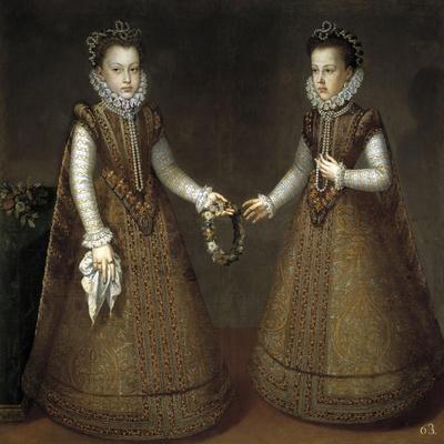 The Infantas Isabel Clara Eugenia and Catalina Micaela, Ca. 1575