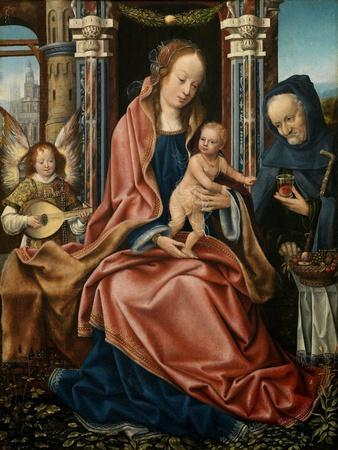 The Holy Family with an Angel Musician, 1510-1520