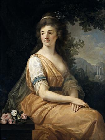 Portrait of Anna Von Escher Van Muralt, Ca. 1800