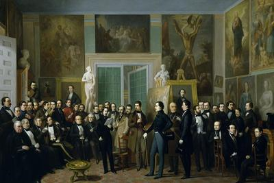 The Contemporary Poets, a Reading of Zorilla at the Painters Studio, 1846
