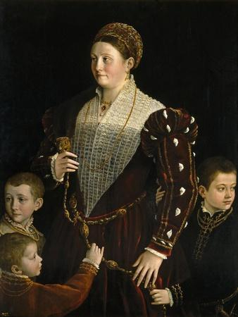 Camilla Gonzaga, Countess of San Segundo, and Her Sons, 1535-1537