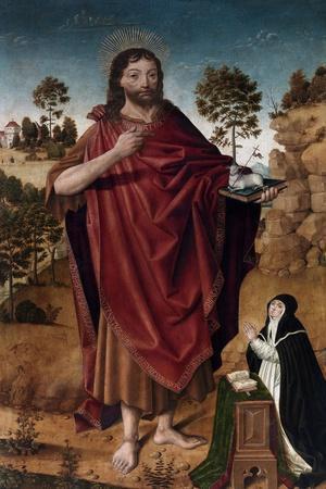 San Juan Bautista Y Una Donante, 1480-1485