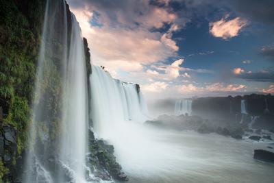 A Dramatic Sunset over Iguacu Waterfalls