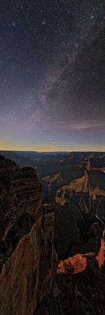 The Setting Moon Illuminates the Milky Way over the Grand Canyon