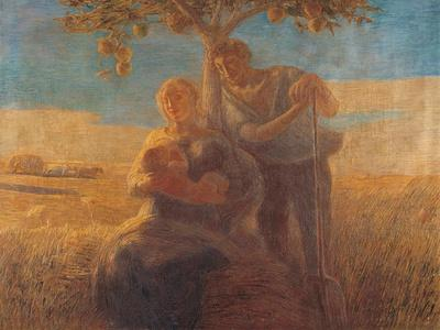 Georgica (Harvest Scene with Nursing Mother and Farmer Father)