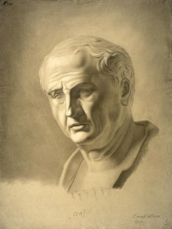 Drawing of Bust of Roman Emperor Vespasian