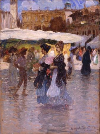 Young Women at Piazza Erbe in Verona