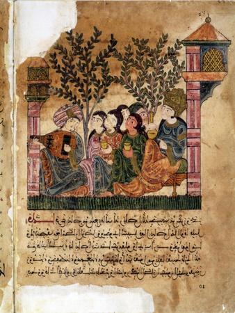 Story of Bayad and Riyad, 13-15th C. Iberian Islamic Miniature with Arabic Text
