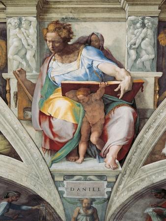 Sistine Chapel Ceiling, Prophet Daniel