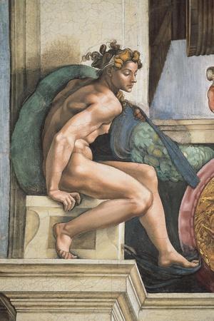 Sistine Chapel Ceiling, Female Nude