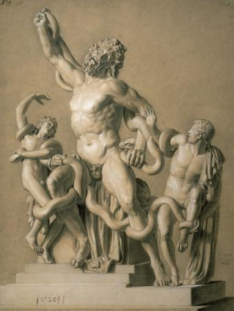 Drawing of the Greek Sculpture Laocoon, 1820