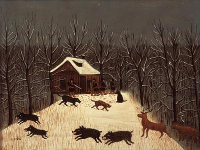 Hunting (Winter with Dogs)