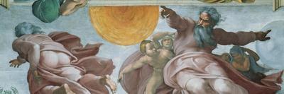 Sistine Chapel Ceiling, God Creating Sun and Moon